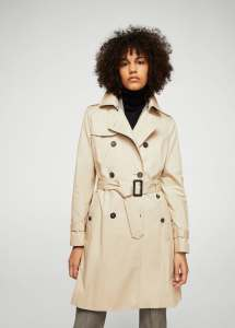 MANGO Double Breast Trench