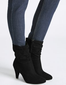 M&S COLLECTION - Wide Fit Side Zip Mid-calf Boots