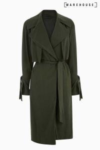 Next Warehouse Khaki Soft Duster Coat