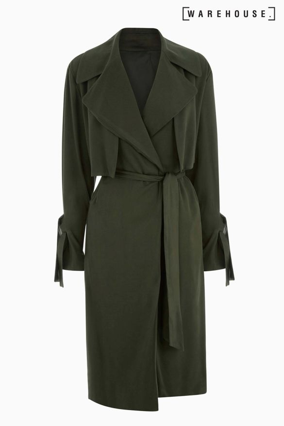 Next Warehouse Khaki Soft Duster Coat