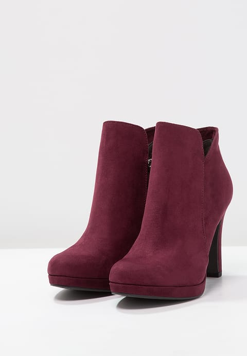Tamaris - High Heeled Ankle Boots - Vine