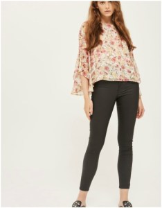 Topshop Moto Coated Black Joni Jeans