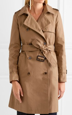 Top 3 trench coats -Net-a-Porter J.Crew canvas trench coat
