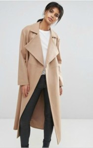 ASOS French Connection Camel Longline Coat - $364 shop
