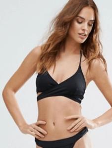 ASOS Missguided Mix & Match Wrap Bikini Top