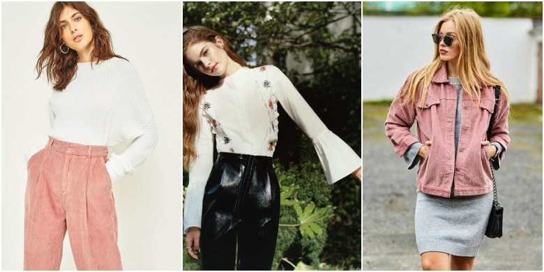 AW17 fashion trends 70s fluted sleeves corduroy