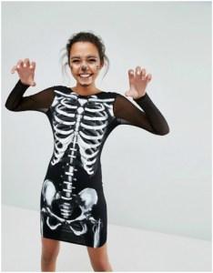 Asos skeleton mini dress