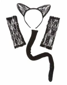 Claires - Black Cat Costume Set