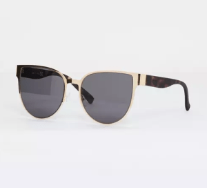 Missguided gold flat metal cat eye sunglasses