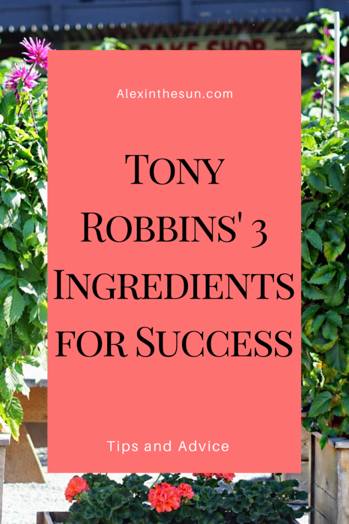 tony robbins' advice on being successful