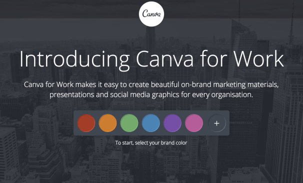 make visual with canva for work