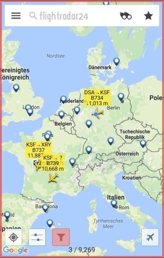 3 Flugzeuge von/nach Kassel, 2 nach Jerez, 1 aus Doncaster
