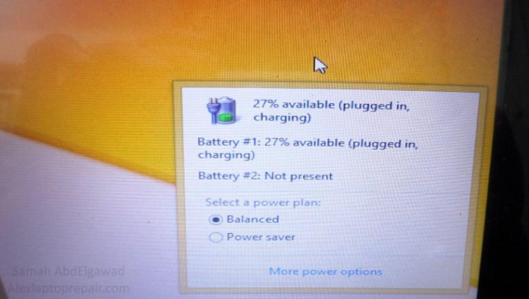 حل مشكلة توقف شحن بطارية اللاب توب عند Hp Laptop Battery