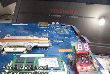 حل عطل لاب توب توشيبا لا يعرض علي الشاشة – Toshiba Laptop No display on screen
