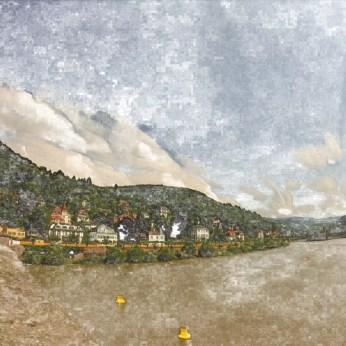 Heidelberg from the Old Bridge (detail)