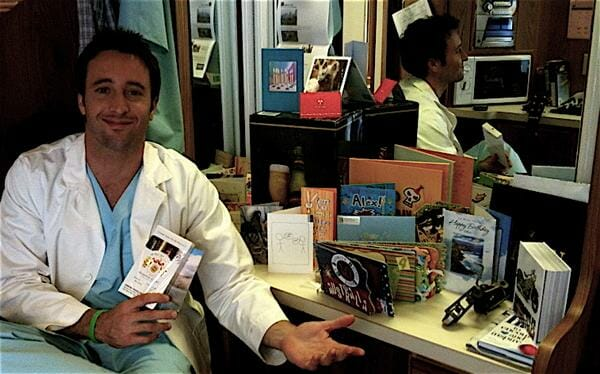 alex o'loughlin sends a birthday thank you message