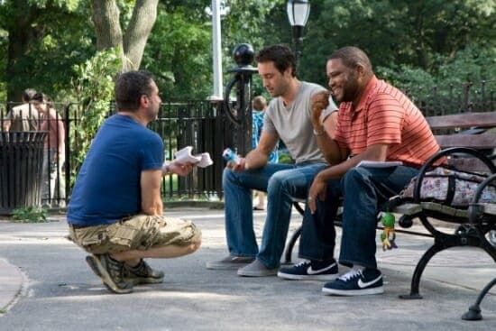 Alex O'Loughlin and cast on the set of the The Back-Up Plan