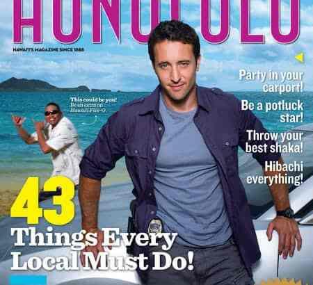 Alex O'Loughlin On the Cover of Honolulu Magazine