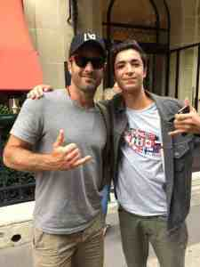 Alex O'loughlin and fan in Paris