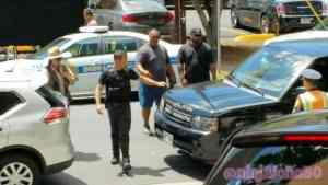 Alex O'loughlin stopping traffic