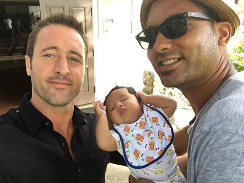 Alex O'loughlin and a baby