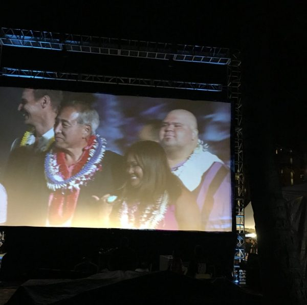 shawn garnett and dennis chun on stage at sotb