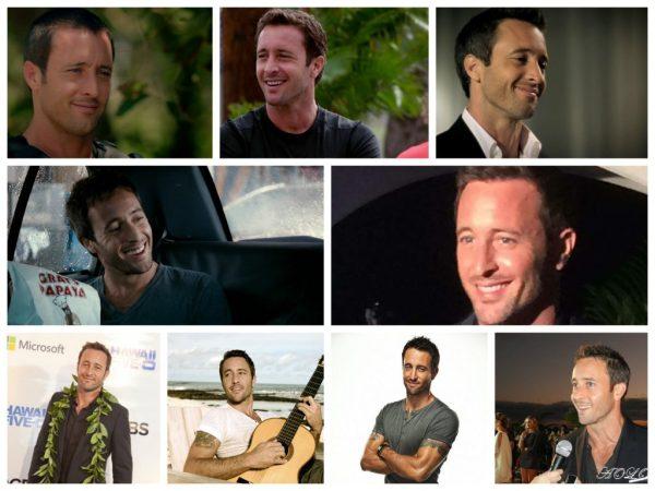 Alex O'lOughlin collage of smiles