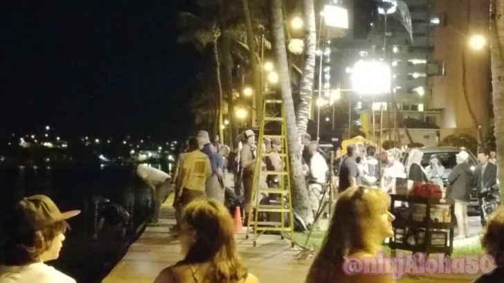 alecx o'loughlin BTS Hawaii Five O