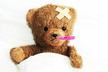 feeling sick- teddy bear