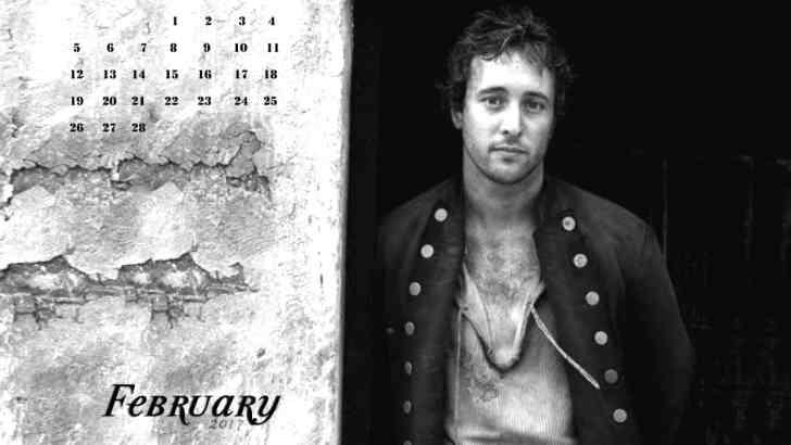 Alex O'Loughlin February Calendars