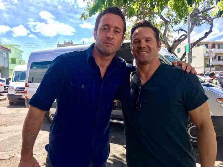 Alex O'Loughlin on location