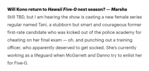 Spoiler room on Hawaii Five 0