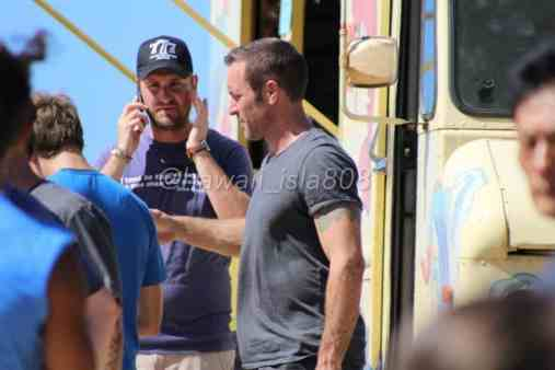 Alex O'Loughlin behind the scenes lagoon