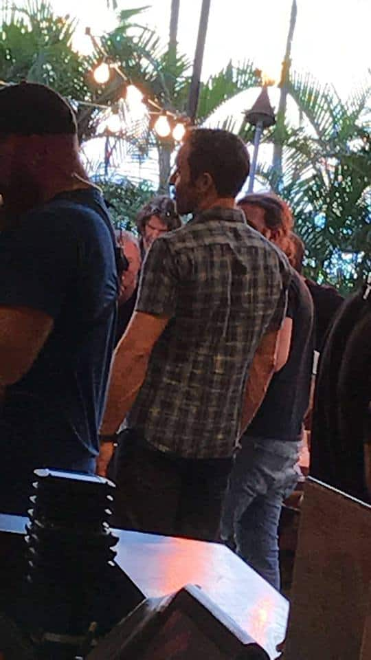 Alex O'Loughlin at the Tropics Bar
