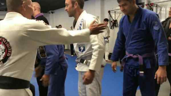 Alex O'Loughlin BJJ belt testing