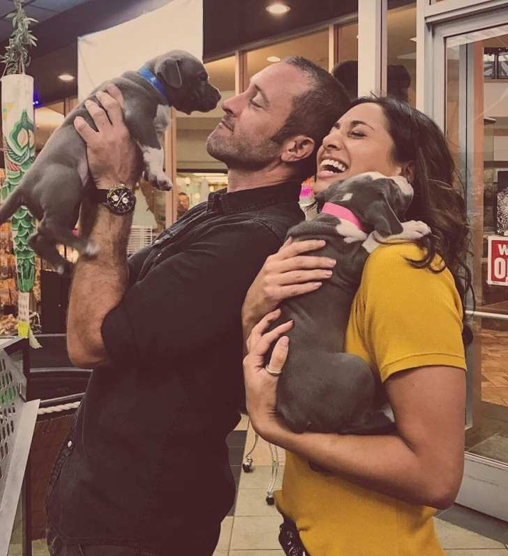 Alex O'Loughlin and Meaghan Rath
