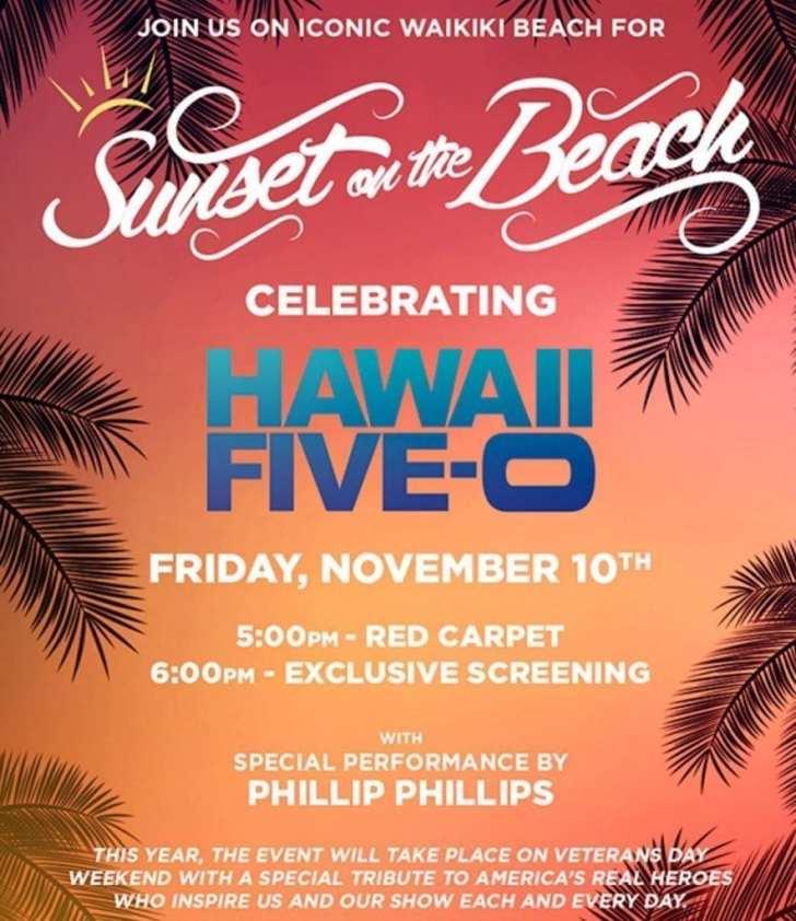 Hawaii Five 0 sunset on the beach