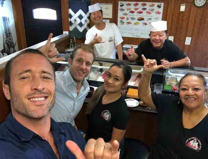 Alex and Scott at Mitch Sushi Market