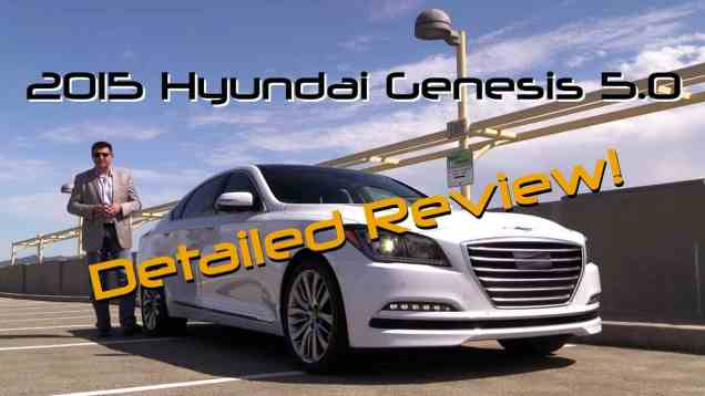 2015 Hyundai Genesis 5 0 Detailed Review and Road Test