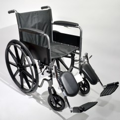 Wheelchair Knee Ready Room Chair Fixed Arm With Padded Elevating Legrests