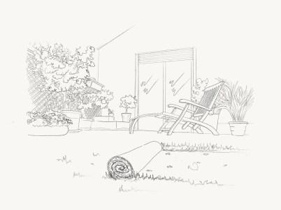 artificial-grass-pencil