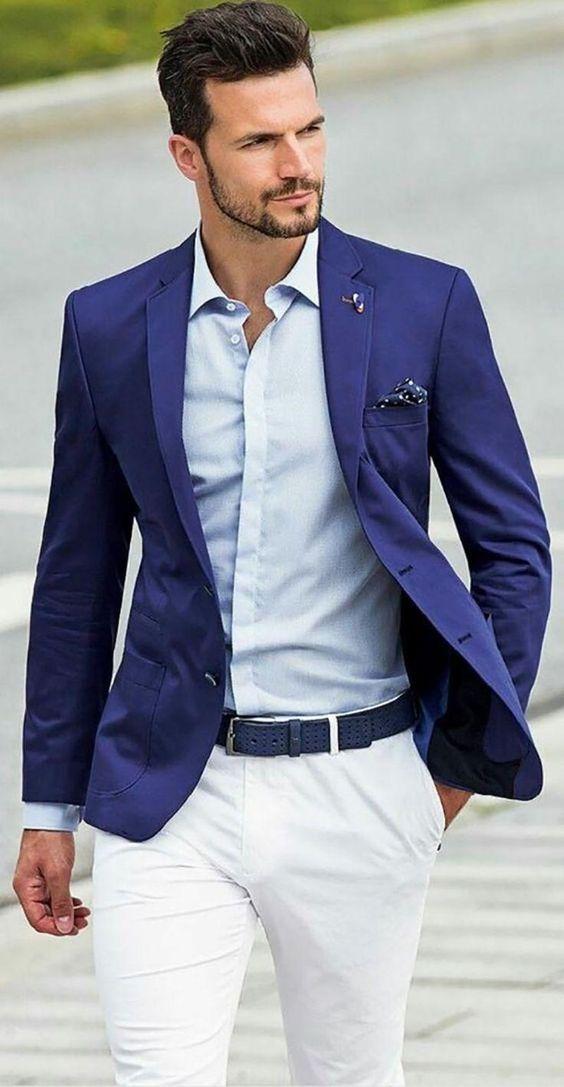 abbinamento uomo giacca blu