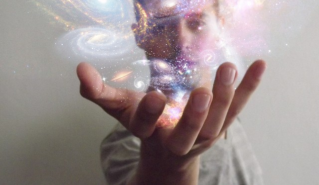 """Universe in my hand"" by Flickr user Lauro Roger McAllister"