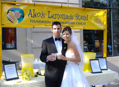Make Your Wedding Extra Special Alexs Lemonade Stand Foundation For Childhood Cancer