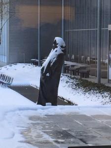 Balzac in the snow