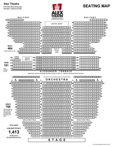 Alex theatre seating chart also rh alextheatre
