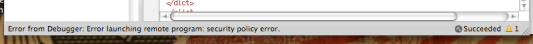 Security Policy Error