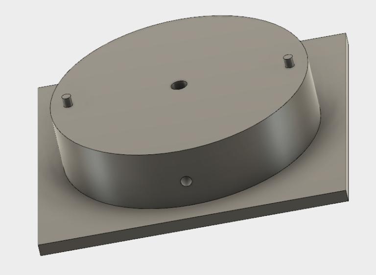 Alignment plate CAD screenshot