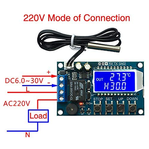 Amazon product image showing 220V connection.