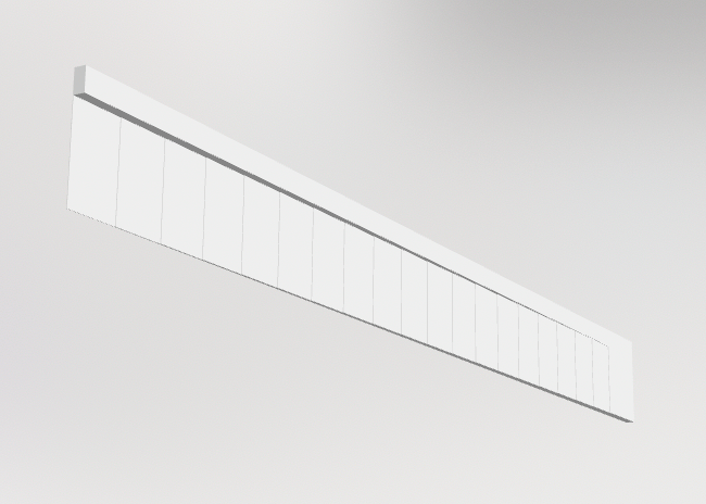 Screenshot of 3d-printed test article geometry